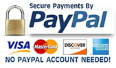 You can checkout through Paypal with your credit card whether you have a paypal account or not!